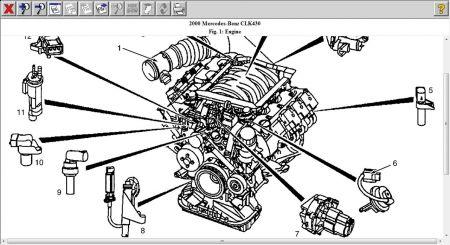 2000 Mercedes Benz CLK430 CRANKSHARFT POSITION SENOR