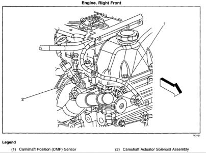 2004 Chevy Trailblazer CAM SENSOR: WHERE IS THE CAM SENSOR