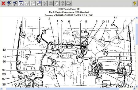 2001 Toyota Camry 4 Cylinder Engine Diagram, 2001, Free