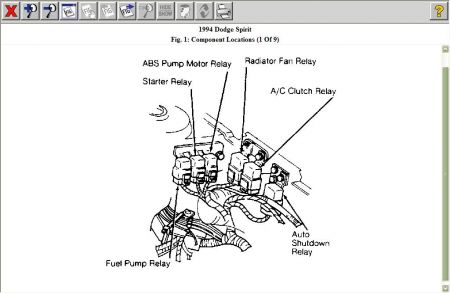 Fuel Pump Relay Location 1993 Dodge Dakota 1993 Dodge