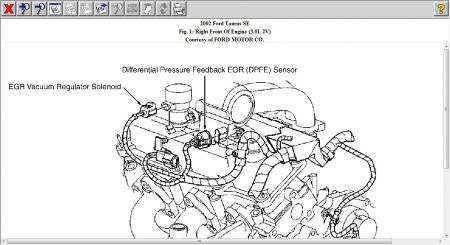 2002 Ford Taurus Egr Pressure Sensor Location: I Have