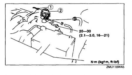 2001 Mazda MPV Egr Valve: Engine Performance Problem 2001