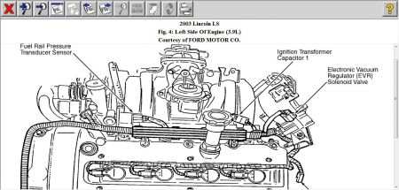 2003 Lincoln LS Where the Location Is for Part Egr3001 Sole