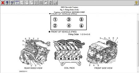 2003 Chevy Venture Spark Plug Wiring Diagram: Engine