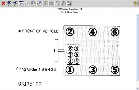 1993 Pontiac Transport Firing Order of An Engine of a Trans
