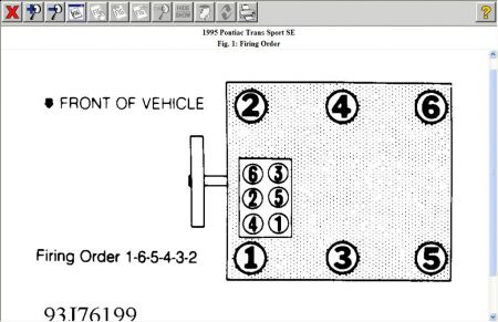 1995 Pontiac Transport Firing Order: Engine Performance