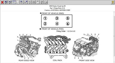 2002 Pontiac Grand Am Spark Plug Wire Placement
