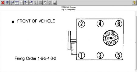 1991 GMC Sonoma FIRING ORDER ALONG WITH DISTRIB.CAP