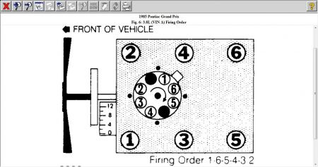 1981 Pontiac Grand Prix Firing Order: Engine Mechanical