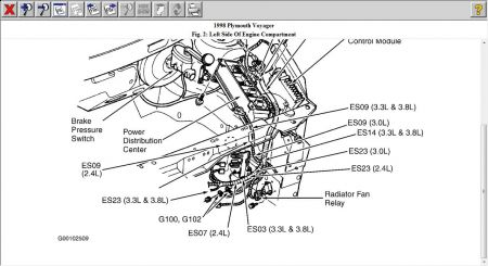 1998 Plymouth Voyager Relay for the Cooling Fan