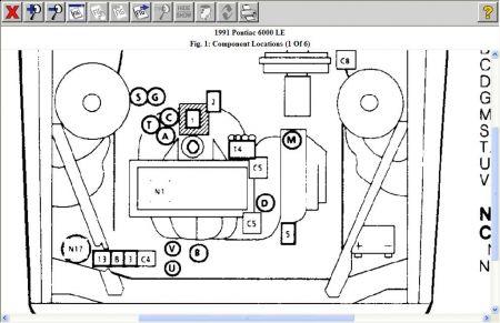 1991 Pontiac 6000 Fuel Pump Relays: Engine Mechanical