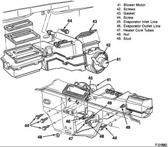 97 chevy s10 radio wiring diagram voice patch panel 1990 gmc sierra pictorial of heater core removal