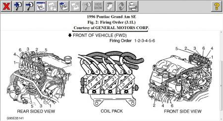1996 Pontiac Grand Am Low Pressure Port: Air Conditioning