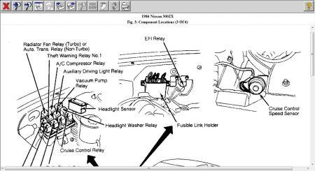 1986 Nissan 300ZX Headlamp Problems: Electrical Problem