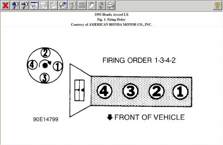 94 Honda Accord Firing Order Diagram, 94, Free Engine