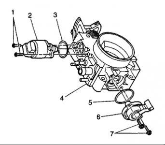 2001 Oldsmobile Alero Idle Air Control Valve: Engine