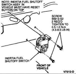 1997 Ford Mustang Fuel Pump Electric Circuit Check