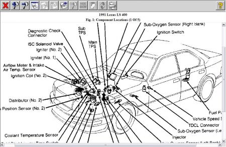 1993 Lexus Ls 400 Wiring Diagram Manual Original Wiring