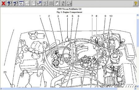 1999 Nissan Pathfinder Engine Diagram, 1999, Free Engine
