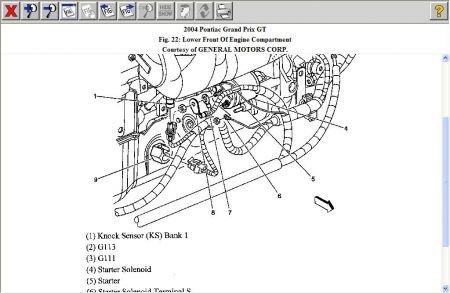 2004 Pontiac Grand Prix Where Is the Knock Sensor