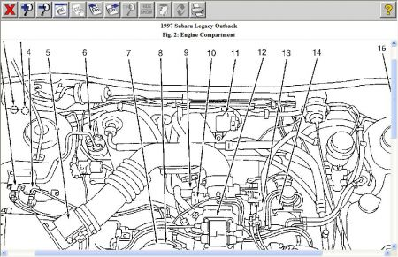 Knock Sensor Location On Engine A 2005 Subaru, Knock, Free