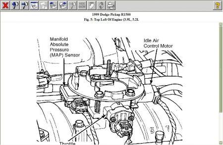 1999 Dodge Truck Map Sensor: Electrical Problem 1999 Dodge