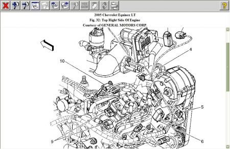 Map Sensor Location: Six Cylinder Front Wheel Drive
