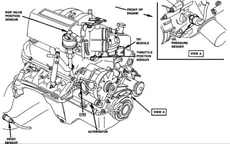 1990 Ford Bronco Ignition Module: Engine Mechanical
