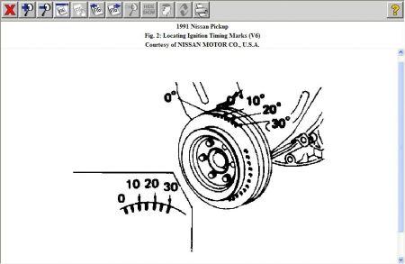 1991 Nissan Truck Timing Marks: Engine Mechanical Problem