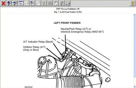 1995 Nissan Pathfinder STARTER RELAY: Electrical Problem