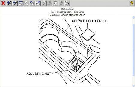 2005 Mazda 3 Adjust: Brakes Problem 2005 Mazda 3 4 Cyl