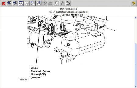 2004 Ford Explorer Computer Location: Computer Problem