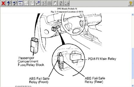 Honda Accord Fuel Pump Relay Location Honda Main Relay