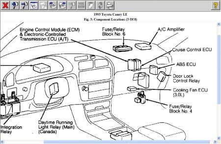 wiring diagram for flasher relay 2005 chevy blazer 1993 toyota camry how to change a flash unit http www 2carpros com forum automotive pictures 12900 r6 1