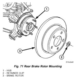 2006 Chrysler Pacifica How Do I Replace Rear Rotors