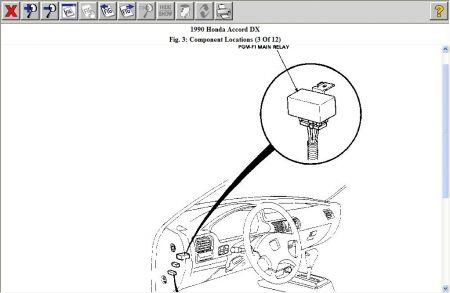 1990 Honda accord main relay problems