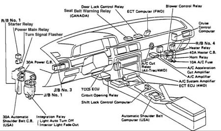 1997 Toyota Camry Headlight Wiring Diagram