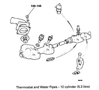 1989 Jaguar XJS Thermostats' Location: Is There An Image