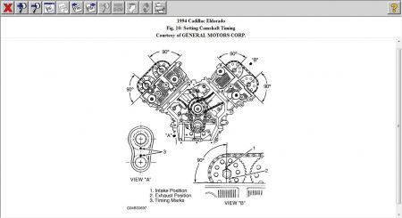 1994 Cadillac El Dorado Set Timing: Engine Mechanical