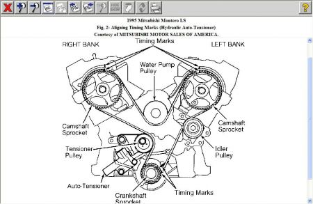 1995 Mitsubishi Montero Timing Marks: I Lost Timing Marks
