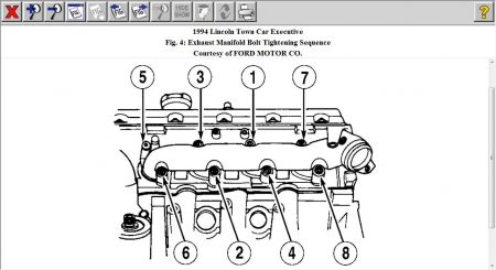 1994 Lincoln Town Car Torque for Intake Manifold Bolt
