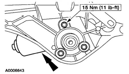 2003 Ford Taurus: HOW TO REPLACE WINDSHEILD WIPER MOTOR