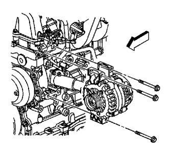 2007 Chevy Trailblazer Alternator Removal: Bearing Going