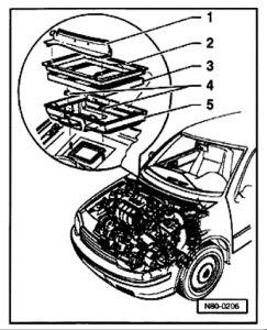 2002 Volkswagen Jetta: Location of Cabin Air Filter