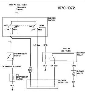 1972 Other Chevrolet Models WIRING DIAGRAM: Electrical