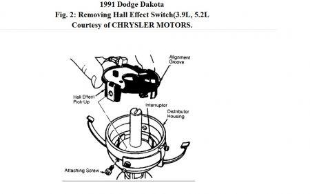 1991 Dodge Dakota Hall Effect Sensor: I Took the
