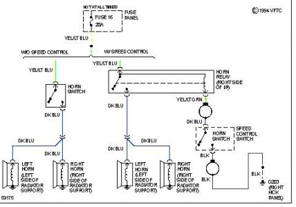 wiring diagram ford horn relay