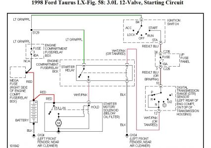 Starter Wiring Diagram For 2004 Taurus, Starter, Free