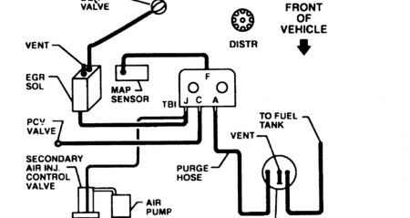 Chevy Emission Hose Routing Diagram, Chevy, Free Engine