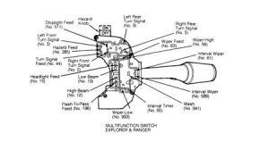 1993 Ford Ranger Steering Column Switchconnnector  Headli